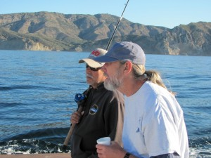 Marc & Jim with Channel Islands in Background